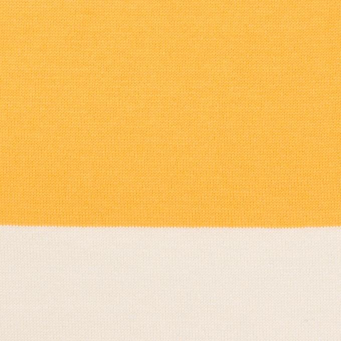 コットン×ボーダー(サンフラワー)×天竺ニット_全7色 イメージ1