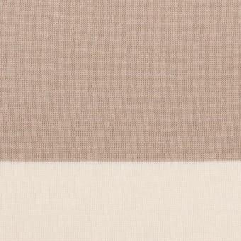 コットン×ボーダー(スモーキーベージュ)×天竺ニット_全7色
