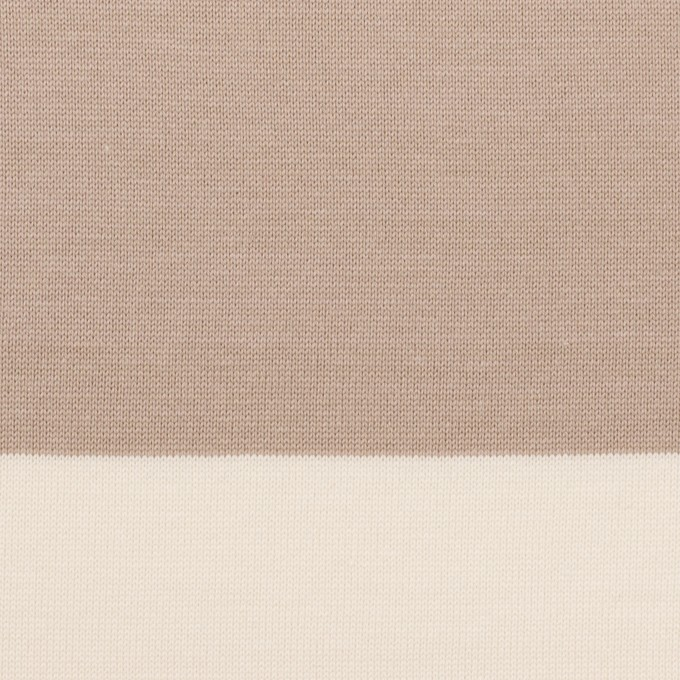 コットン×ボーダー(スモーキーベージュ)×天竺ニット_全7色 イメージ1