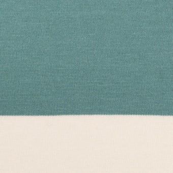 コットン×ボーダー(アンティークグリーン)×天竺ニット_全7色