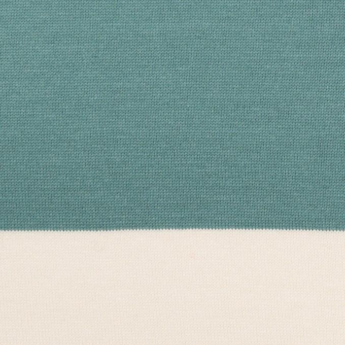 コットン×ボーダー(アンティークグリーン)×天竺ニット_全7色 イメージ1