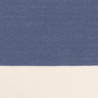コットン×ボーダー(スモークブルー)×天竺ニット_全7色