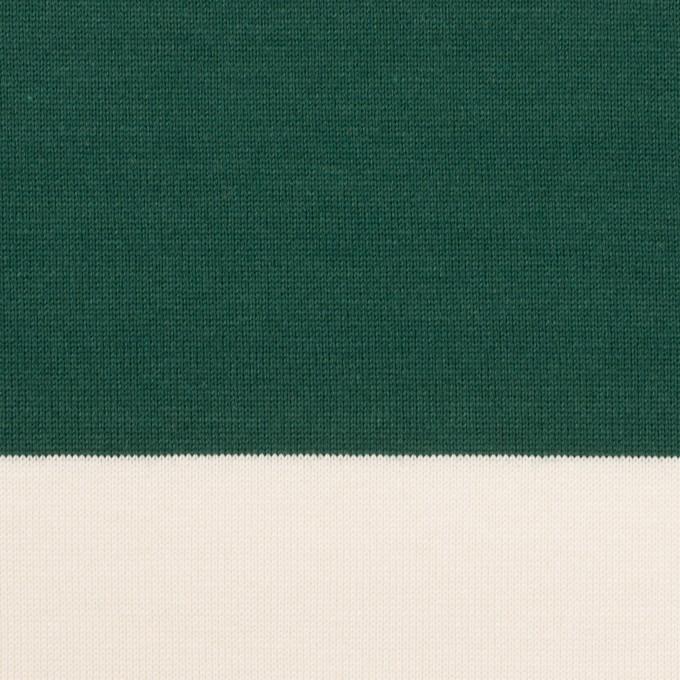 コットン×ボーダー(モスグリーン)×天竺ニット_全7色 イメージ1