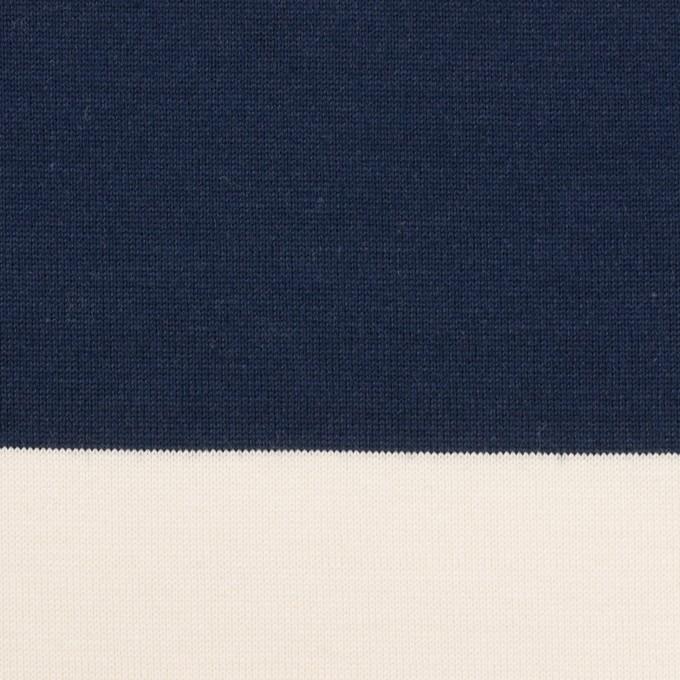 コットン×ボーダー(ネイビー)×天竺ニット_全7色 イメージ1