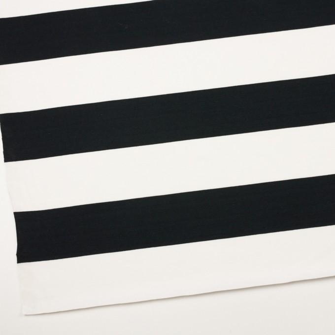 コットン×ボーダー(ブラック)×天竺ニット_全7色 イメージ2