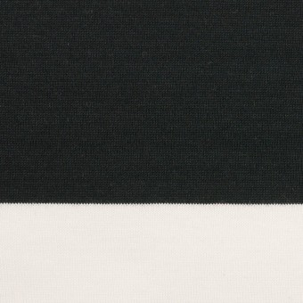 コットン×ボーダー(ブラック)×天竺ニット_全7色