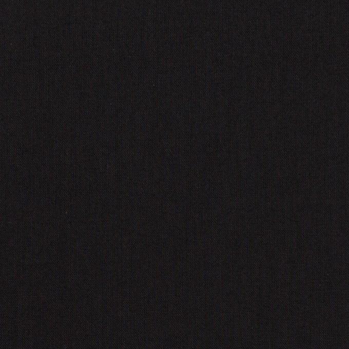 コットン×無地(ブラック)×ローン_全10色 イメージ1