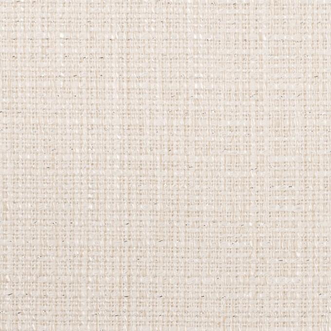 コットン&レーヨン混×無地(バニラホワイト)×ファンシーツイード イメージ1