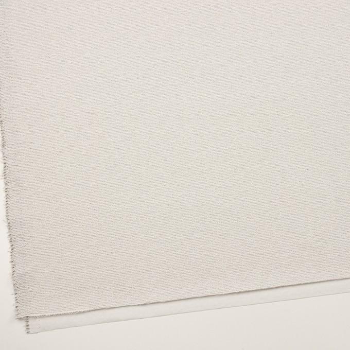 コットン&シルク混×ボーダー(アイボリー&ブラック)×二重織 イメージ2