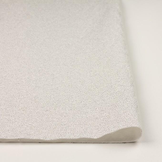 コットン&シルク混×ボーダー(アイボリー&ブラック)×二重織 イメージ3