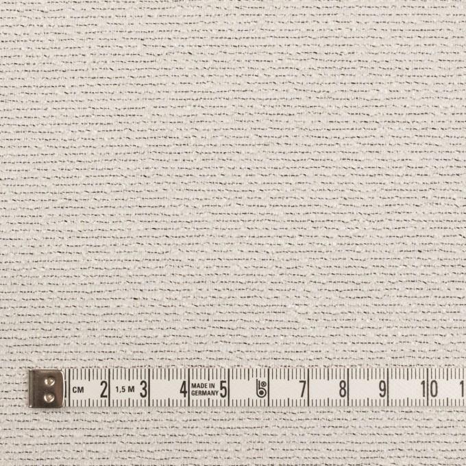 コットン&シルク混×ボーダー(アイボリー&ブラック)×二重織 イメージ4
