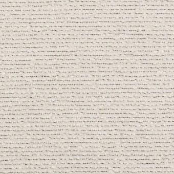 コットン&シルク混×ボーダー(アイボリー&ブラック)×二重織