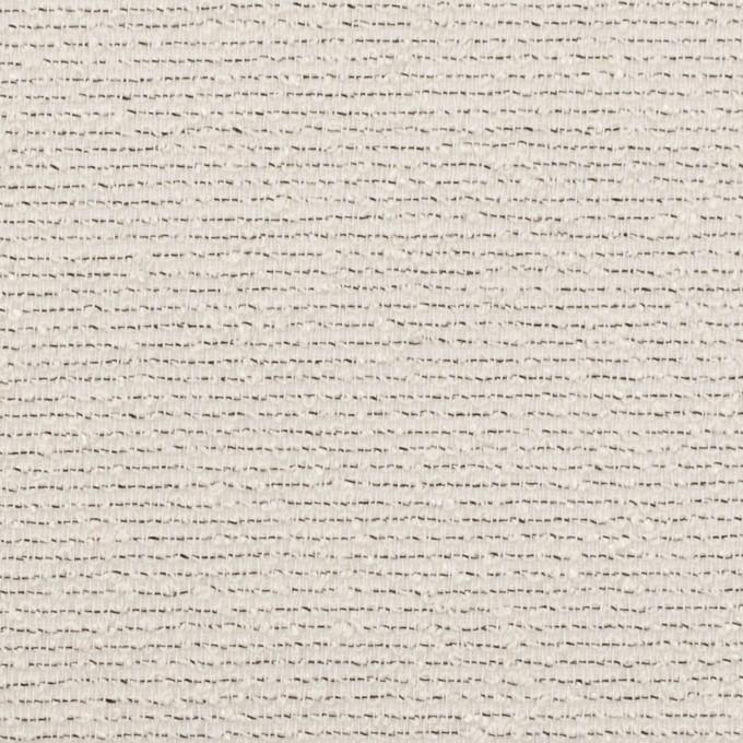 コットン&シルク混×ボーダー(アイボリー&ブラック)×二重織 イメージ1