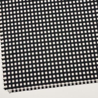 コットン&ポリウレタン×チェック(エクリュ&ブラック)×ポプリンジャガード・ストレッチ サムネイル2