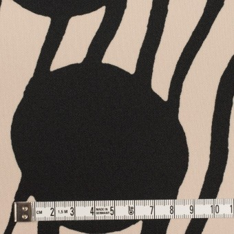 ポリエステル×ペイント(ライトベージュ&ブラック)×スムースニット サムネイル4