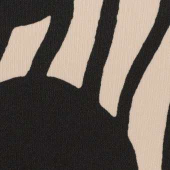 ポリエステル×ペイント(ライトベージュ&ブラック)×スムースニット