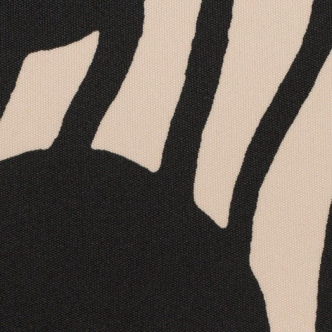 ポリエステル×ペイント(ライトベージュ&ブラック)×スムースニット イメージ1
