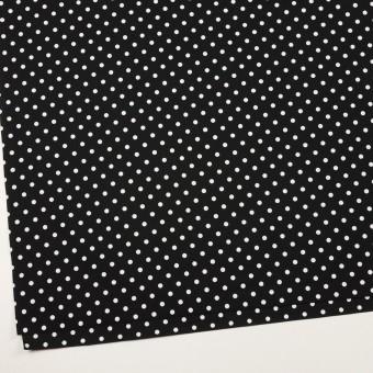コットン×ドット(ホワイト&ブラック)×ブロード_全2色 サムネイル2