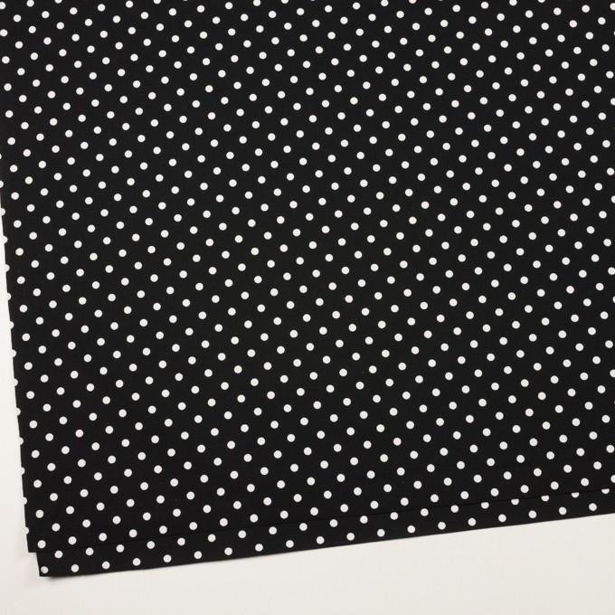 コットン×ドット(ホワイト&ブラック)×ブロード_全2色 イメージ2