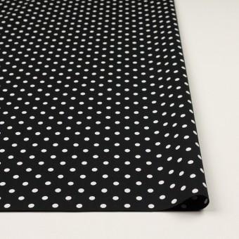 コットン×ドット(ホワイト&ブラック)×ブロード_全2色 サムネイル3