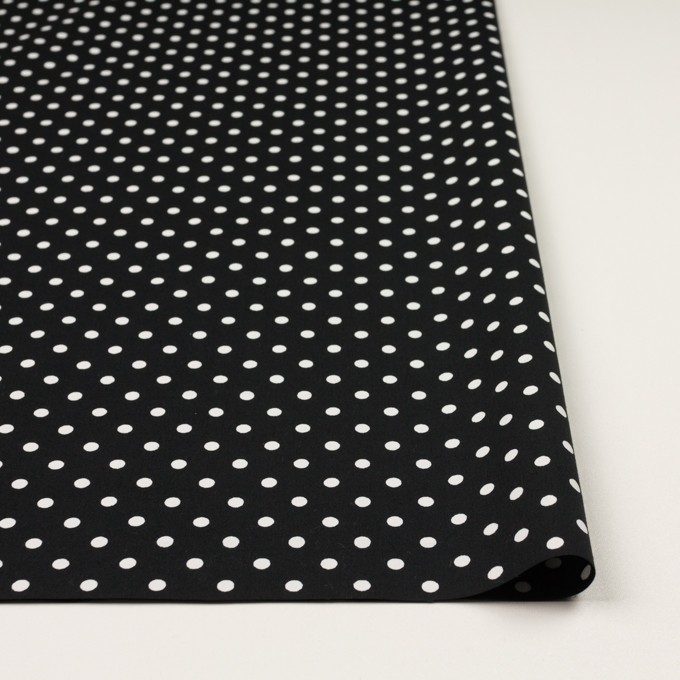 コットン×ドット(ホワイト&ブラック)×ブロード_全2色 イメージ3