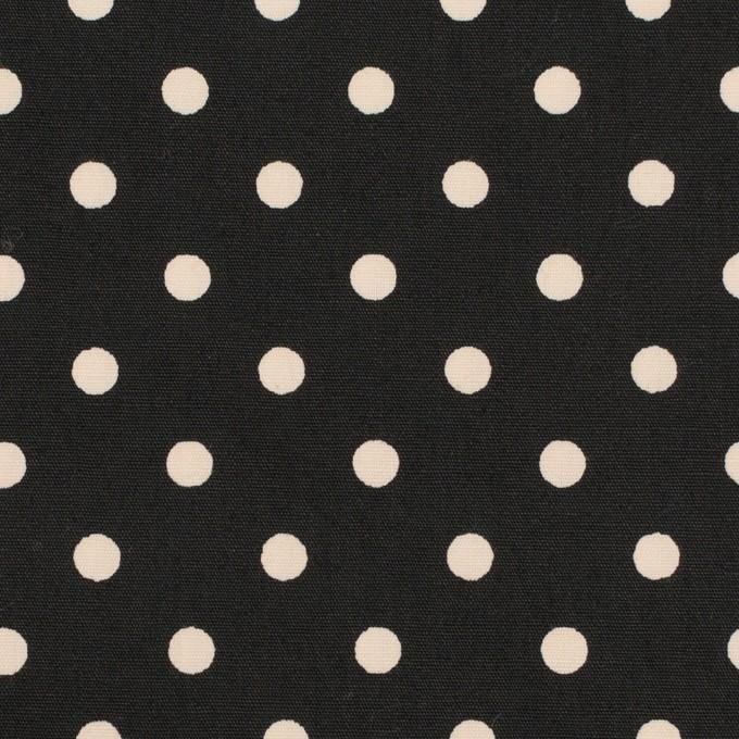コットン×ドット(エクリュ&ブラック)×ブロード_全2色 イメージ1