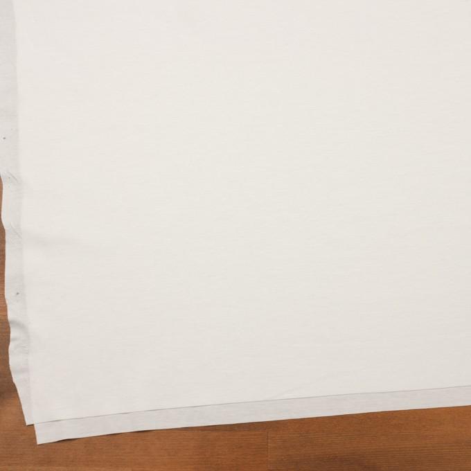 コットン&ポリウレタン×無地(オフホワイト)×スムースニット イメージ2