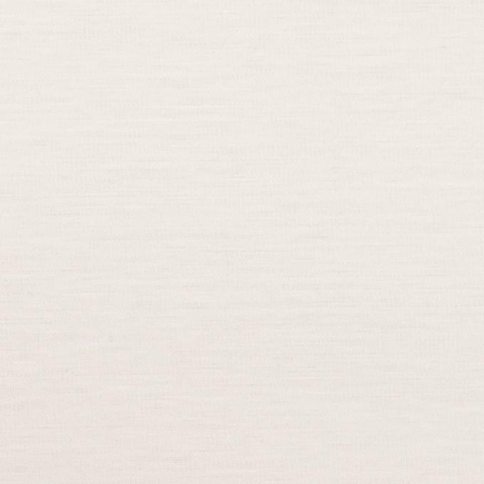 コットン&ポリウレタン×無地(オフホワイト)×スムースニット イメージ1
