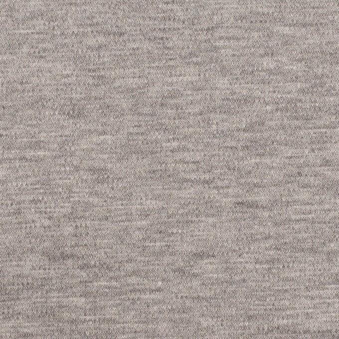 コットン×無地(杢グレー)×Wニット イメージ1