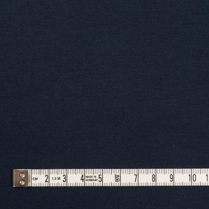 コットン&リヨセル×無地(ダークネイビー)×スムースニット イメージ4
