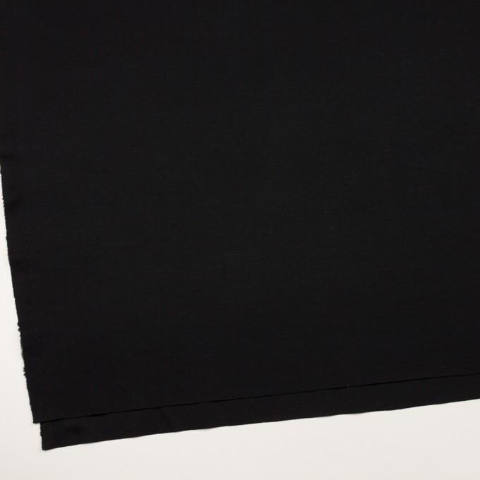 コットン&リヨセル×無地(ブラック)×スムースニット イメージ2