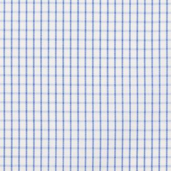 コットン×チェック(ブルー)×ブロード サムネイル1