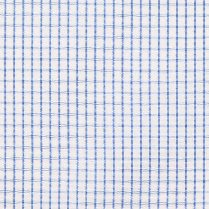 コットン×チェック(ブルー)×ブロード イメージ1