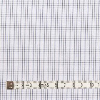 コットン&ポリエステル×チェック(ネイビー)×ブロード&サージ サムネイル4