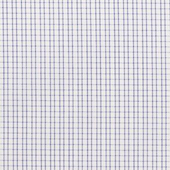 コットン&ポリエステル×チェック(ネイビー)×ブロード&サージ