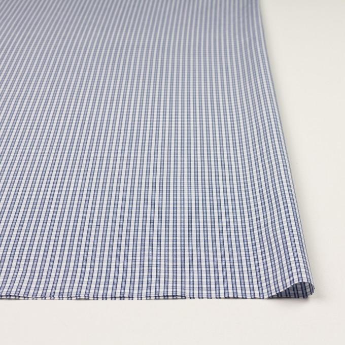 コットン×チェック(ブルー)×ブロードジャガード イメージ3