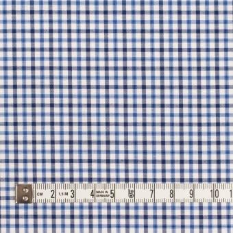 コットン×チェック(ヒヤシンスブルー&ダークネイビー)×サージ サムネイル4