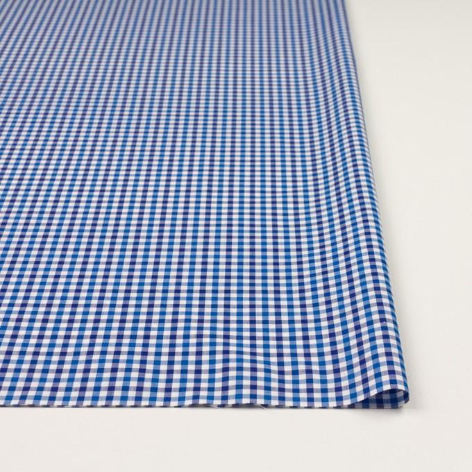 コットン×チェック(ブルー&ネイビー)×ブロード イメージ3