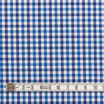 コットン×チェック(ブルー&ネイビー)×ブロード サムネイル4