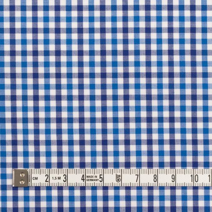 コットン×チェック(ブルー&ネイビー)×ブロード イメージ4