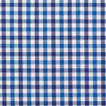 コットン×チェック(ブルー&ネイビー)×ブロード