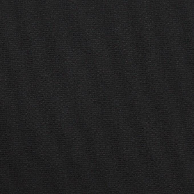 コットン&リヨセル混×無地(ブラック)×ブロードストレッチ イメージ1