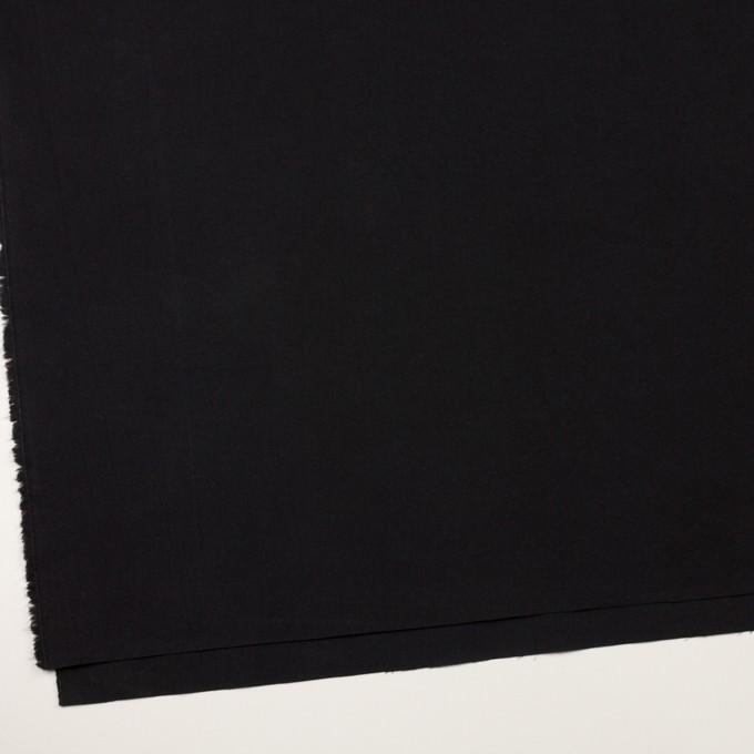 コットン×無地(チャコールブラック)×高密ポプリン・ワッシャー イメージ2