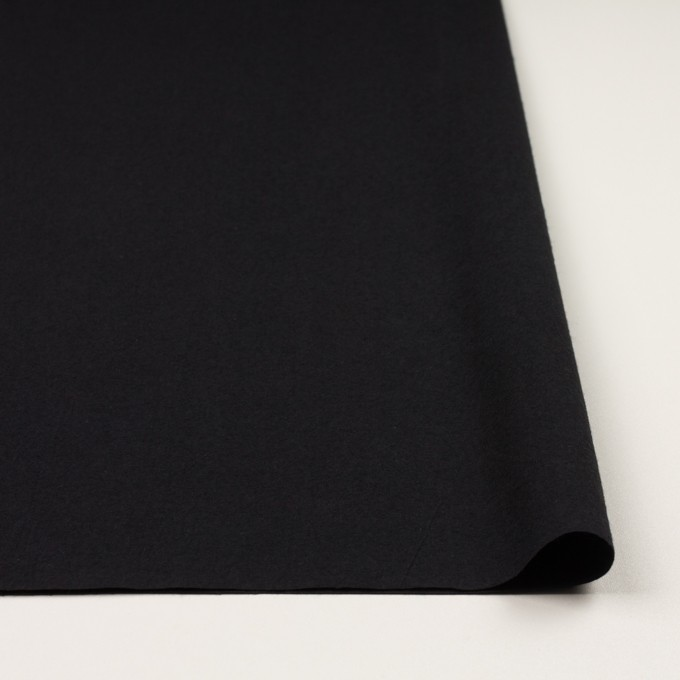 コットン×無地(チャコールブラック)×高密ポプリン・ワッシャー イメージ3