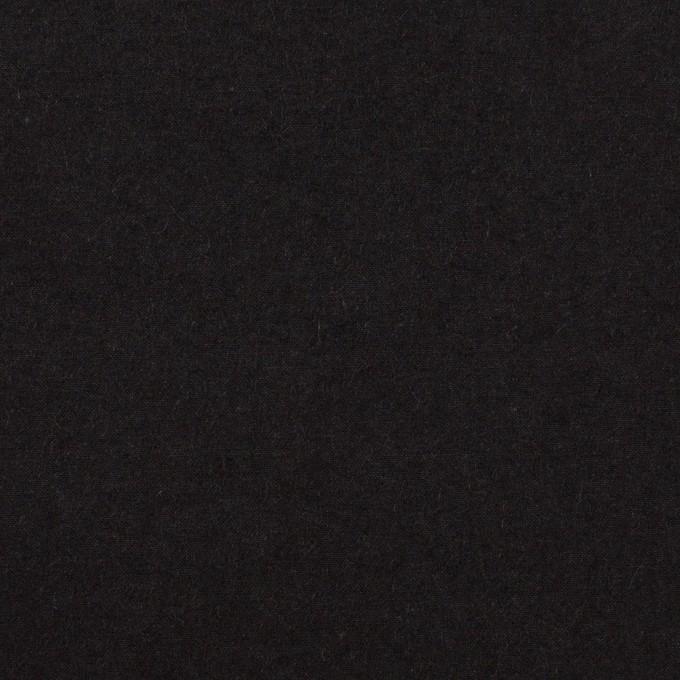 コットン×無地(チャコールブラック)×高密ポプリン・ワッシャー イメージ1