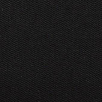 コットン×無地(ブラック)×ヘリンボーン サムネイル1