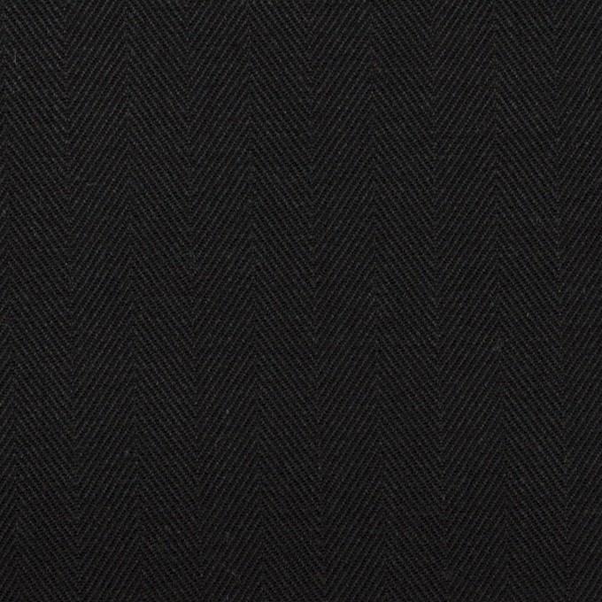 コットン×無地(ブラック)×ヘリンボーン イメージ1
