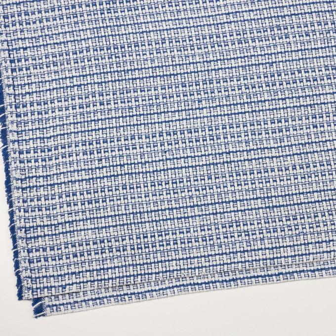 ポリエステル&コットン×ミックス(オフホワイト&ブルー)×ファンシーツイード イメージ2