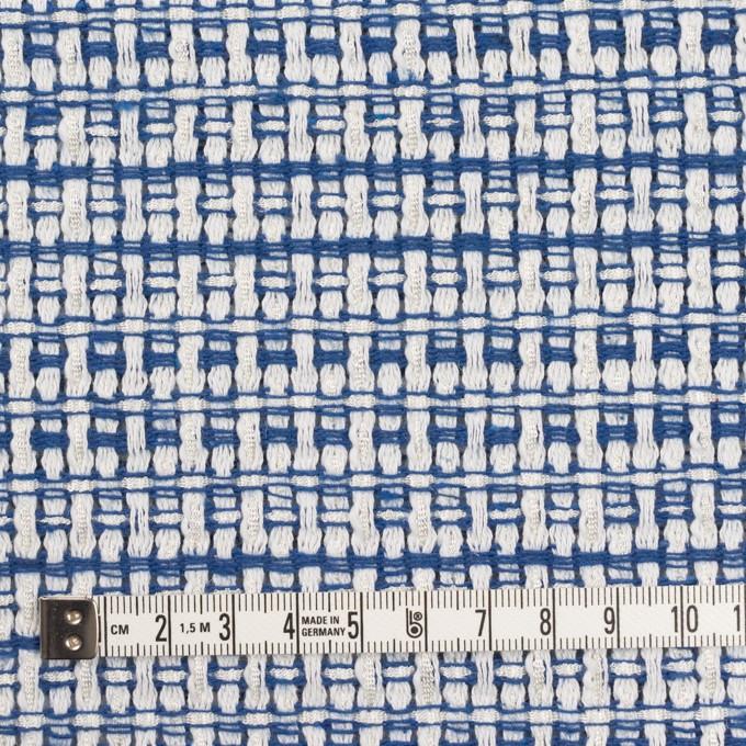 ポリエステル&コットン×ミックス(オフホワイト&ブルー)×ファンシーツイード イメージ4