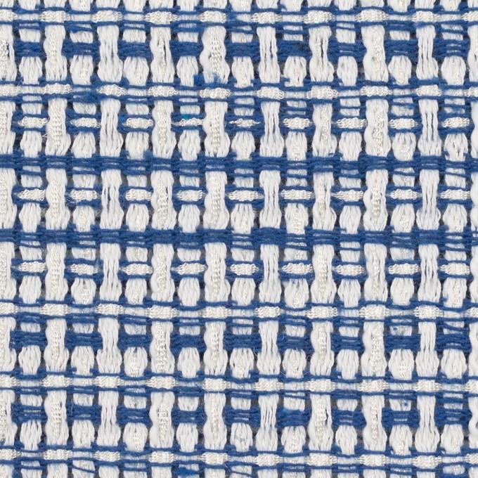 ポリエステル&コットン×ミックス(オフホワイト&ブルー)×ファンシーツイード イメージ1